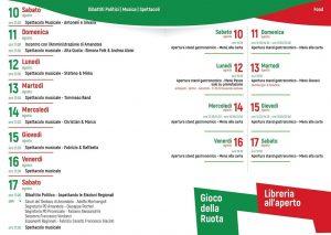 Festa de l'Unità dal 10 al 17 Agosto         Amandola – Piazzale Ferranti